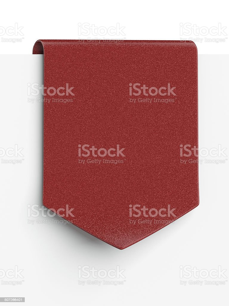 Red clothing label stock photo