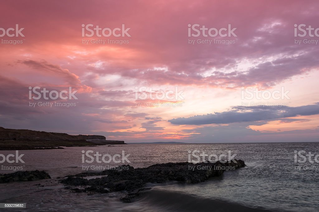 Red Cloud Sunrise stock photo