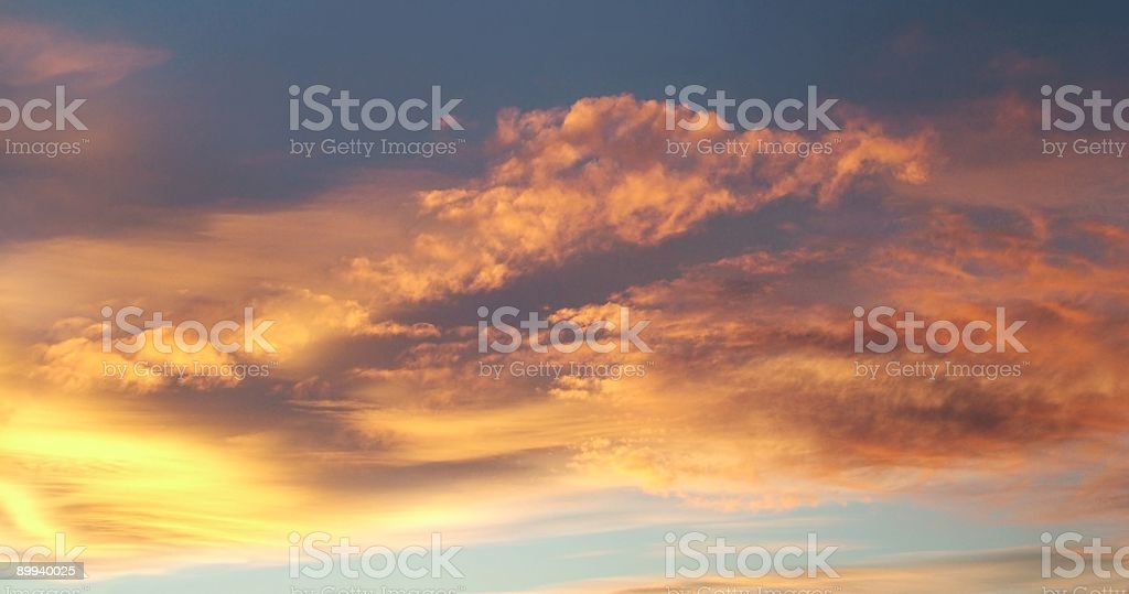 Red clouds panorama royalty-free stock photo