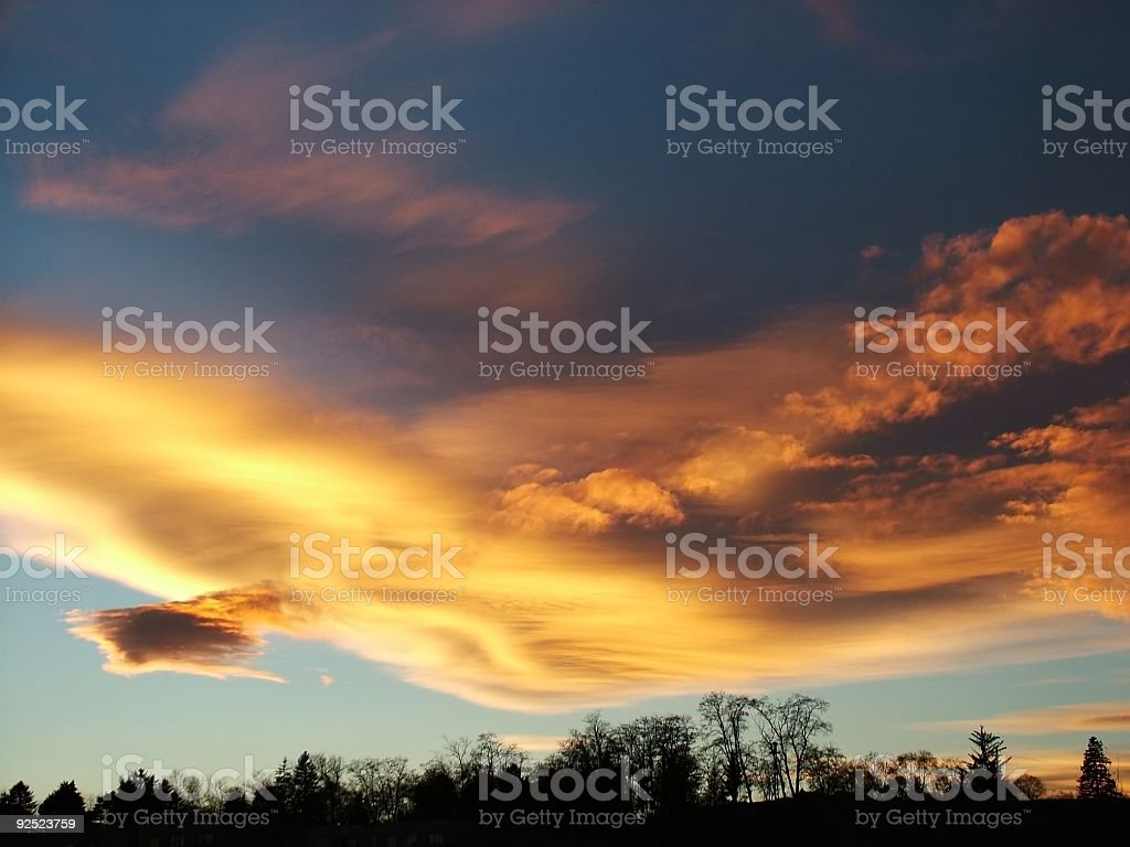 Red clouds royalty-free stock photo