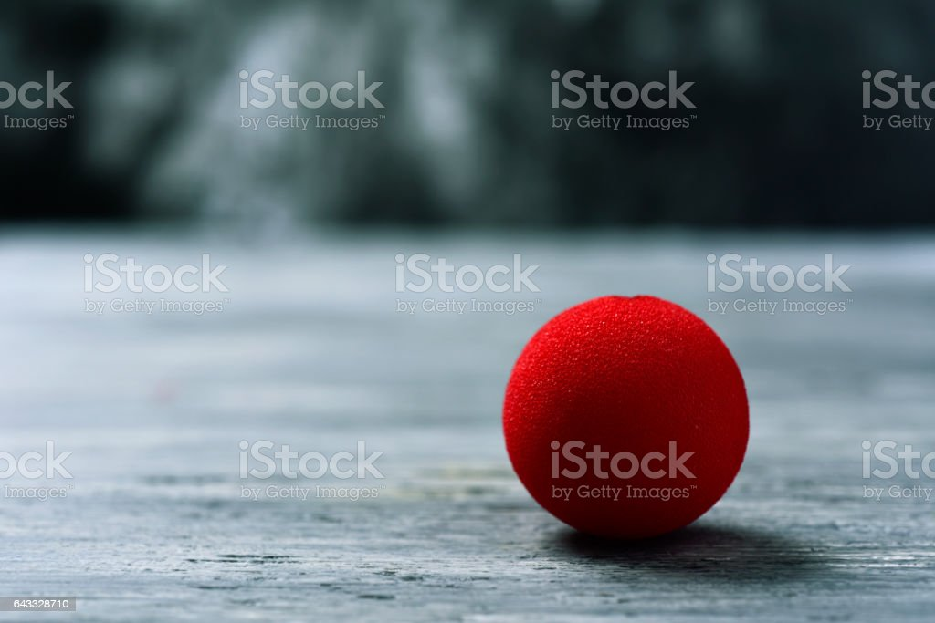 red clown nose stock photo