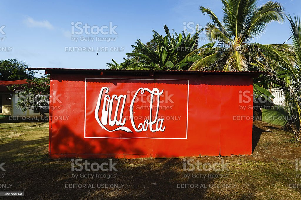 Red Coca Cola sign art royalty-free stock photo