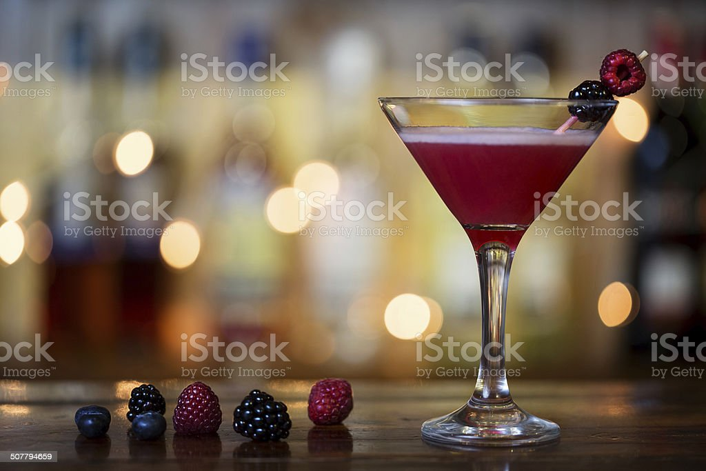 red cocktail drink stock photo