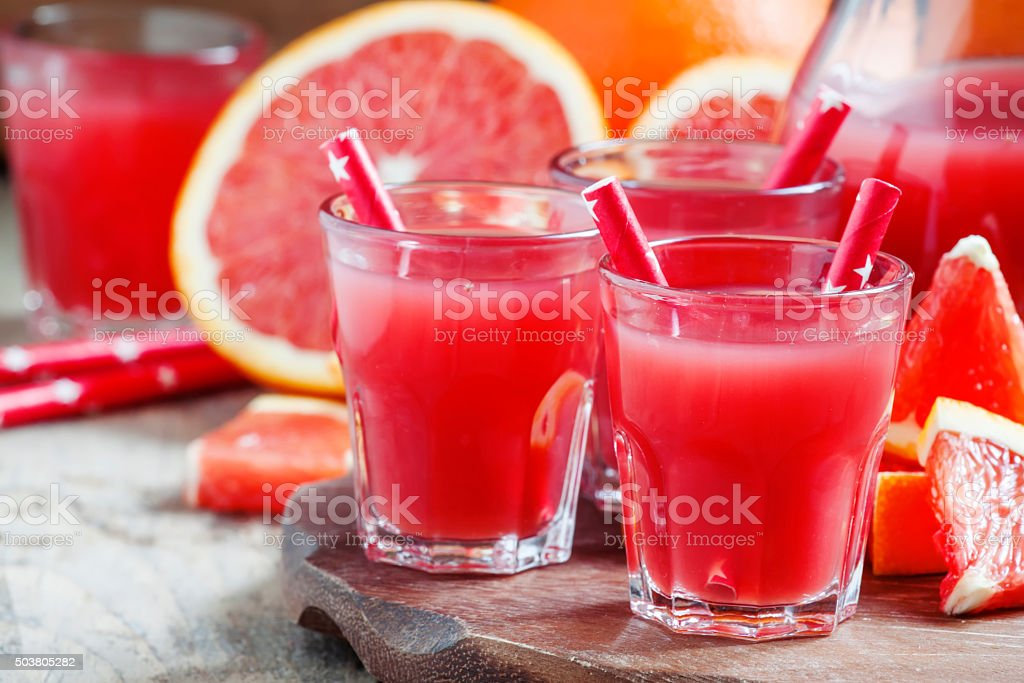 Red cocktail from Sicilian oranges stock photo