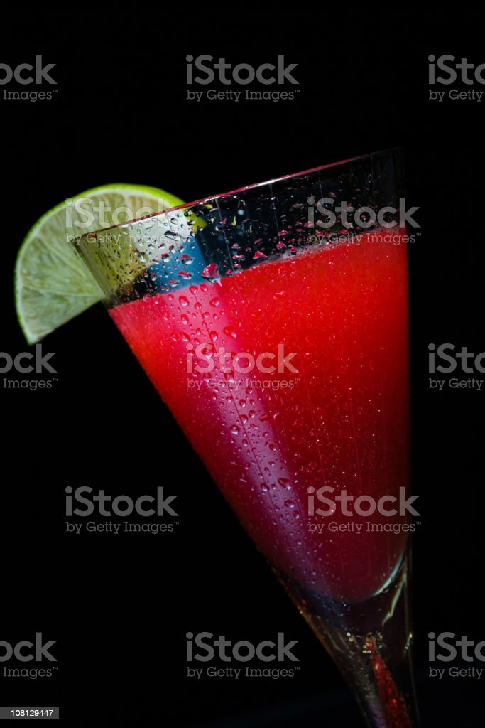 Red Cocktail on Black Background royalty-free stock photo