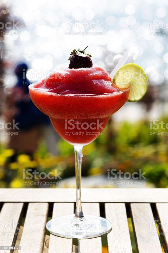 red cocktail outdoor stock photo