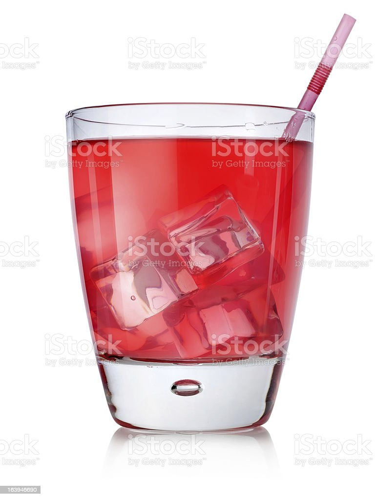 Red cocktail with straw royalty-free stock photo