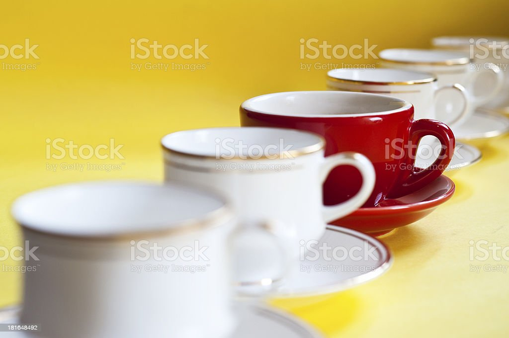 Red Coffee Cup in group royalty-free stock photo
