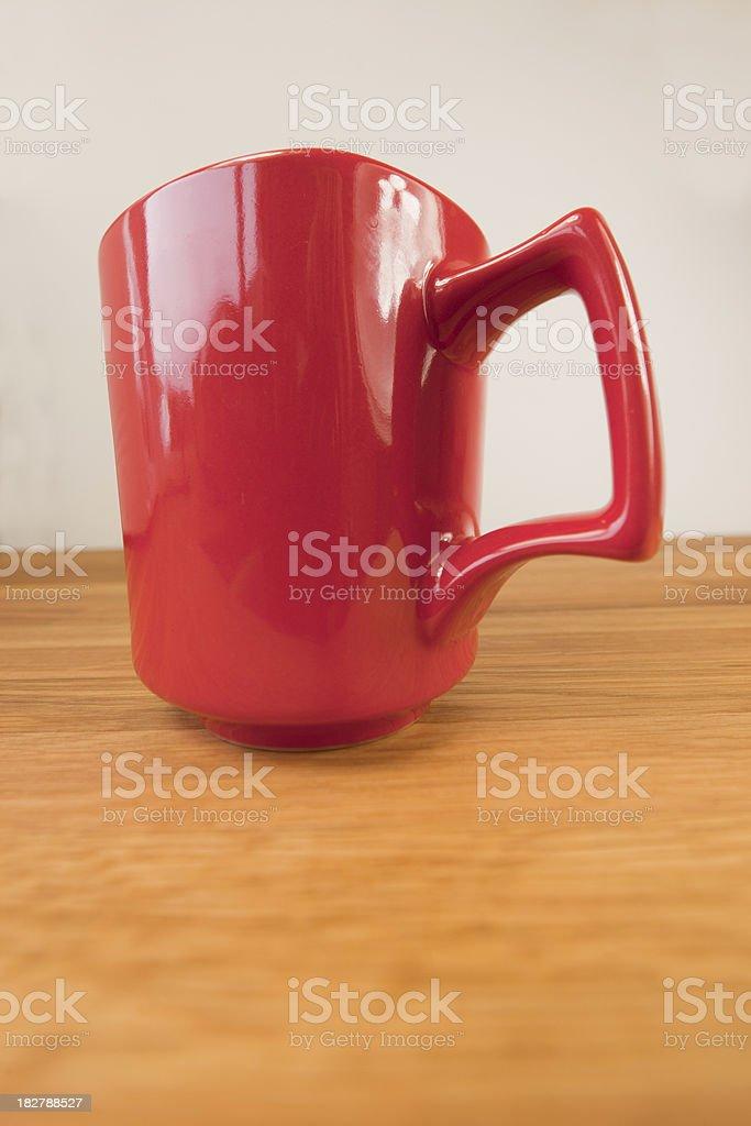Red Coffee Mug Abstract stock photo