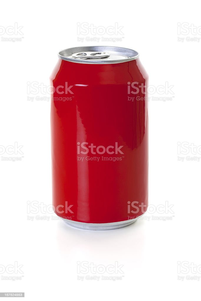 Red Cola Can stock photo