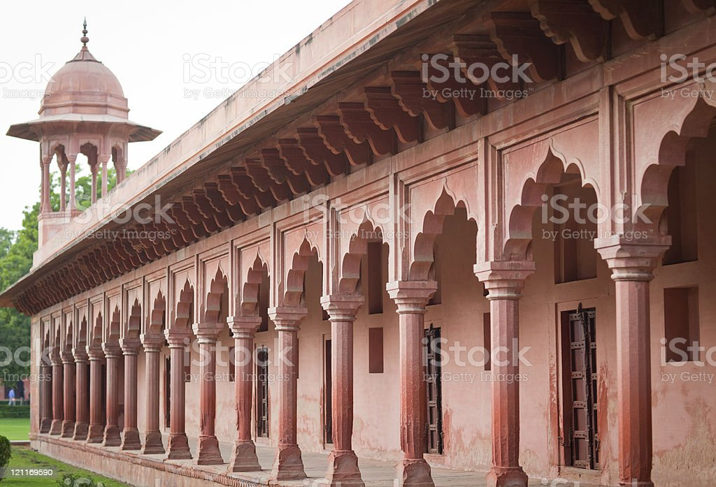 Red Colonnade royalty-free stock photo