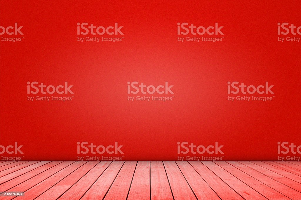 Red color domestic room background stock photo
