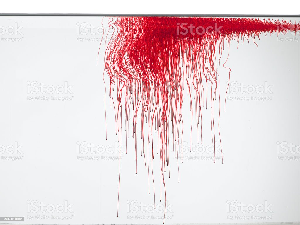 Red color in water stock photo