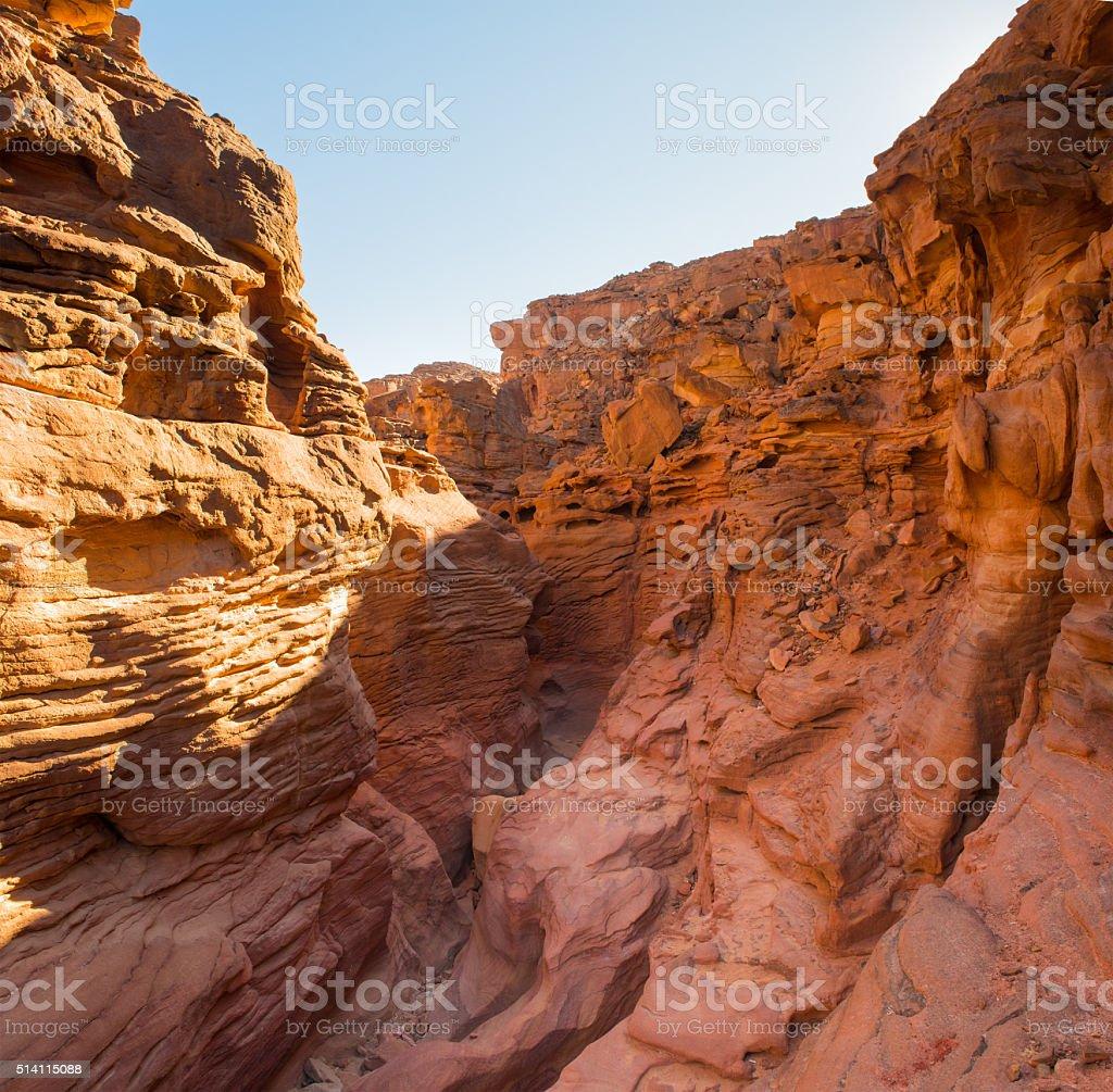 Red  Colored Canyon  Sinai Peninsula, Egypt stock photo