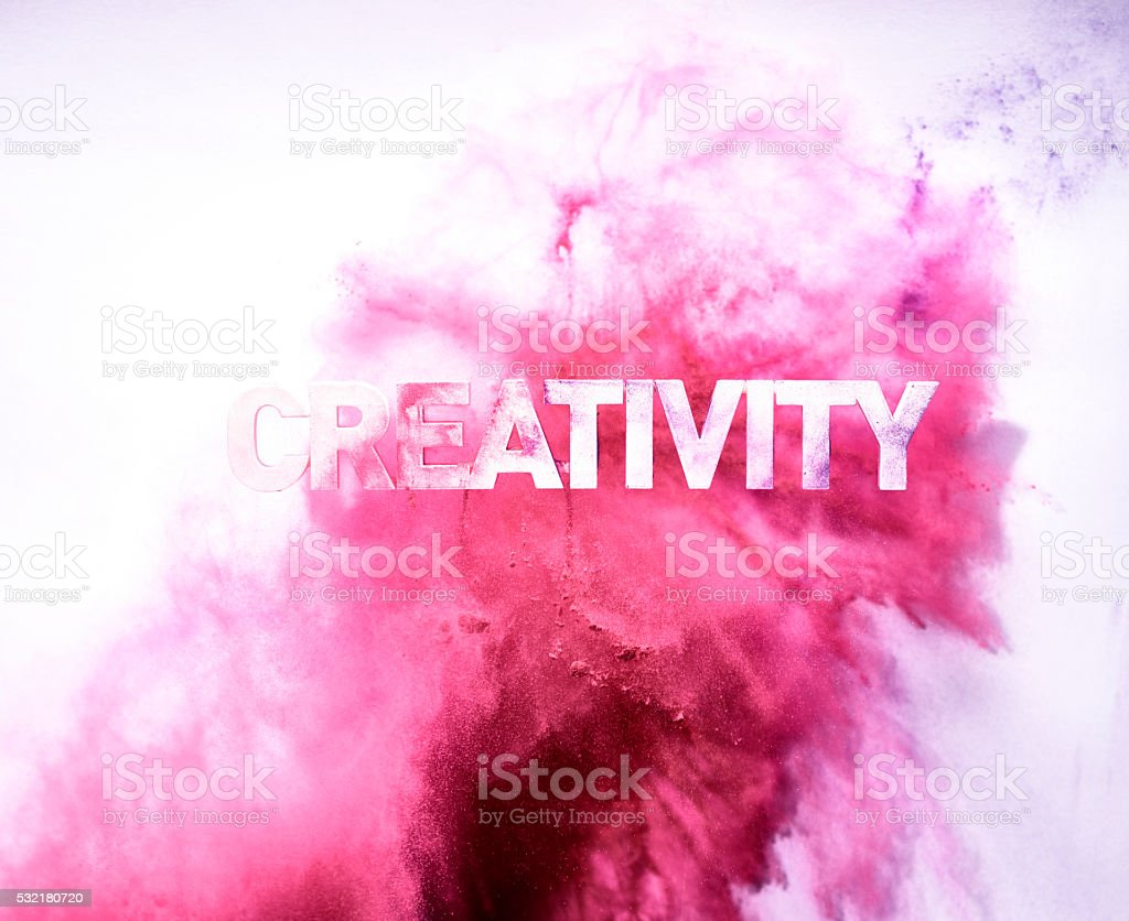 Red Colored Creativity blast stock photo