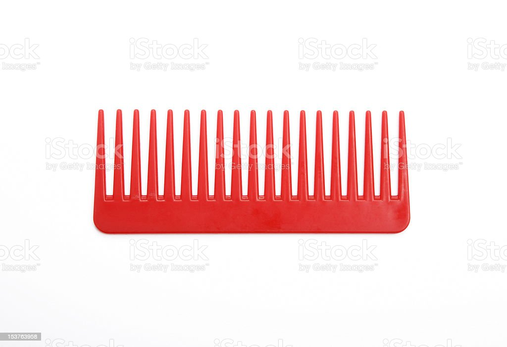 Red comb stock photo