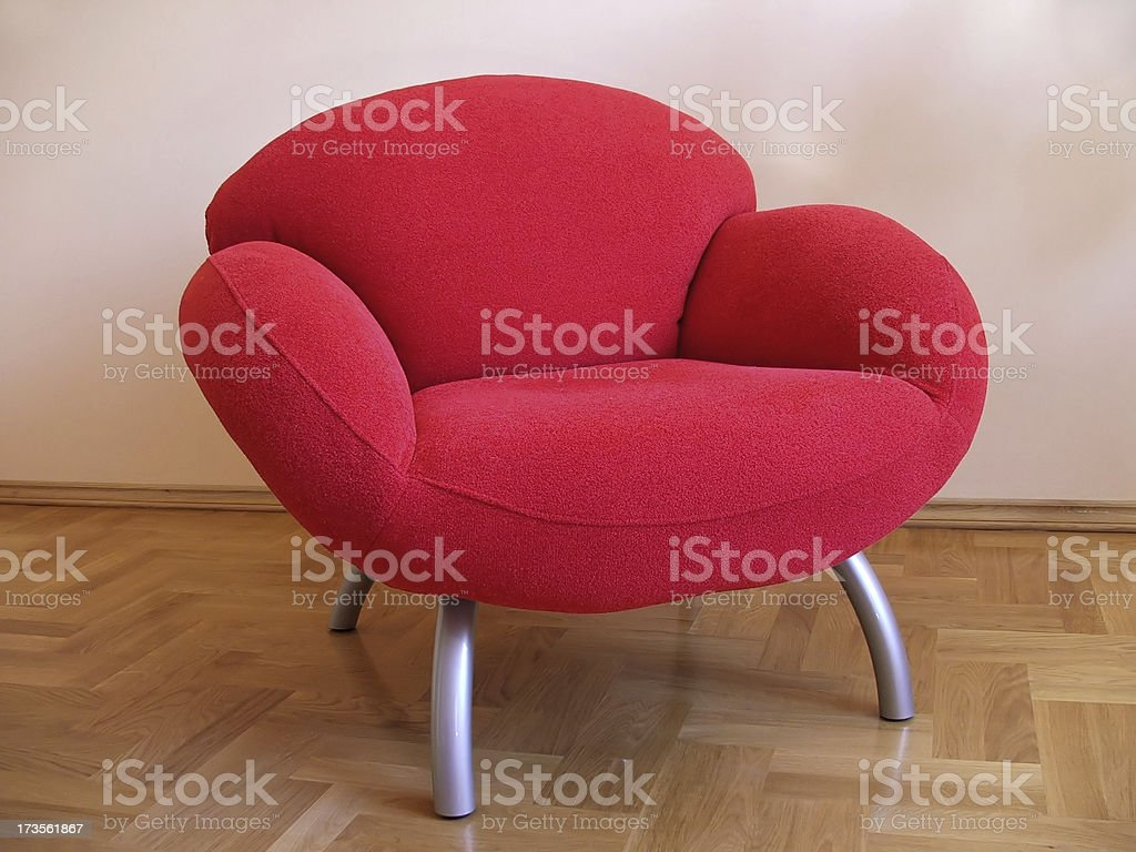 Red Comfortable Armchair royalty-free stock photo