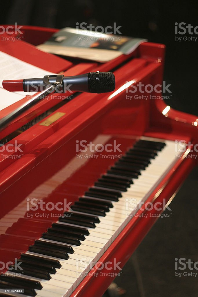 red concert grand royalty-free stock photo