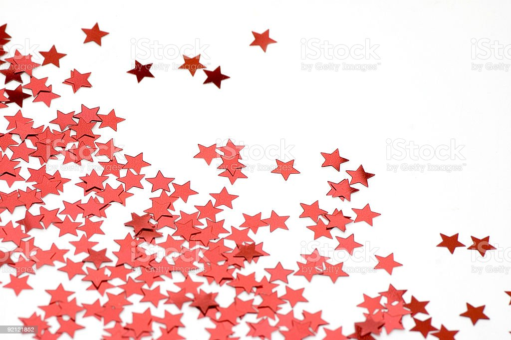 Red confetti royalty-free stock photo
