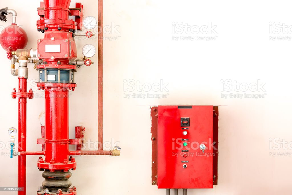 red controller and fire tube stock photo