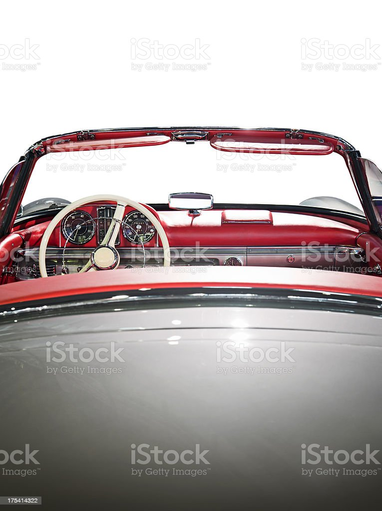 Red Convertible Car stock photo