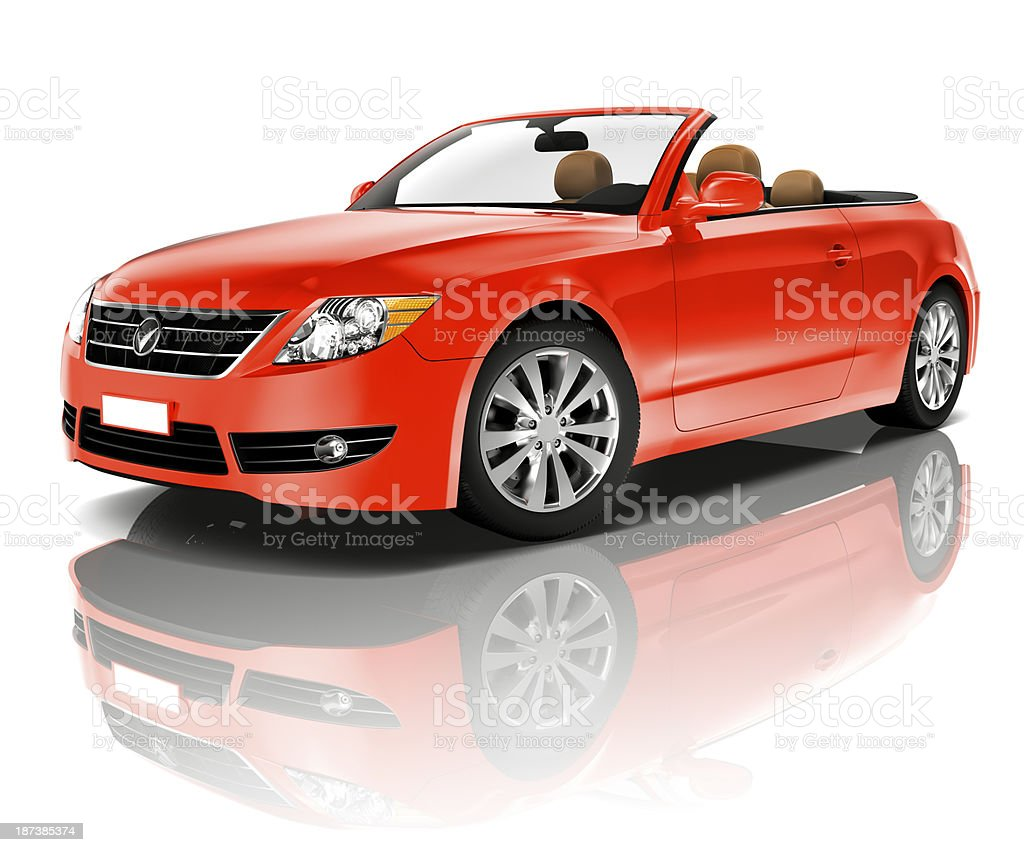 Red Convertible stock photo