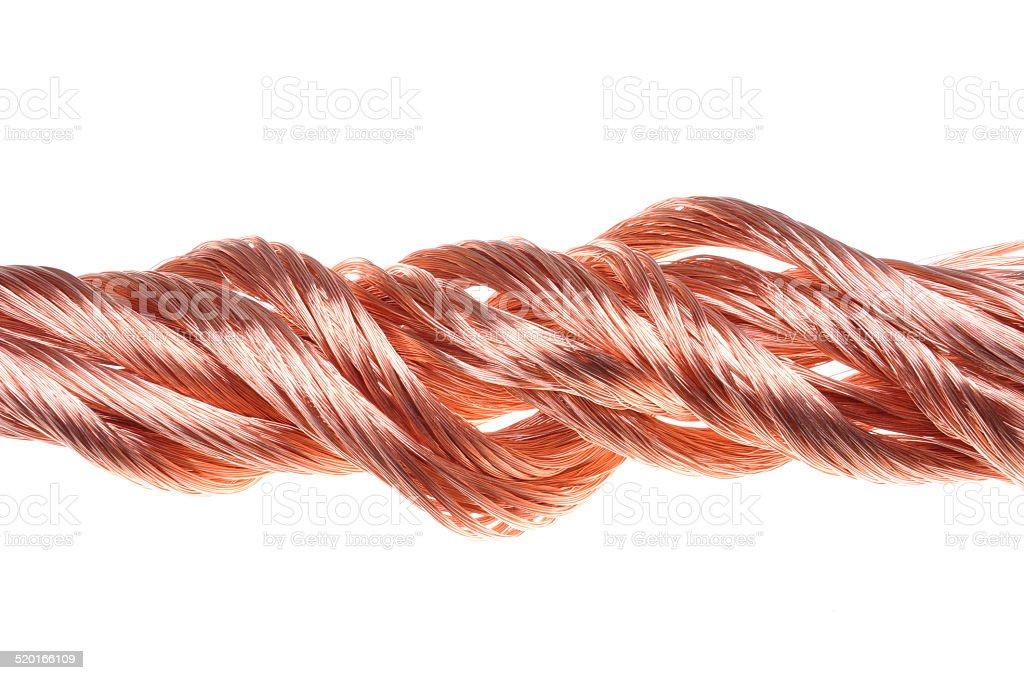 Red copper wire stock photo