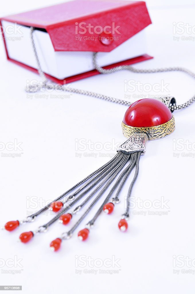 red coral necklace royalty-free stock photo