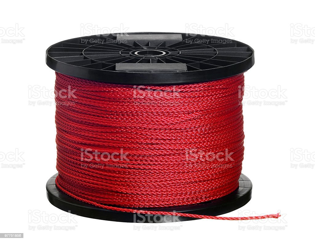 red cord on black coil royalty-free stock photo