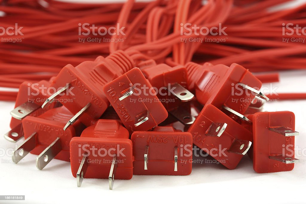 Red cords royalty-free stock photo