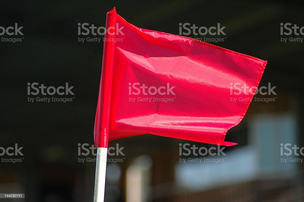 Red corner flag royalty-free stock photo