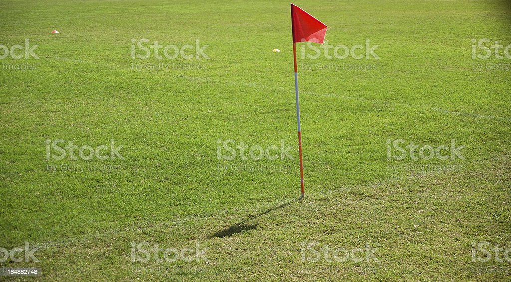 red corner flag royalty-free stock photo