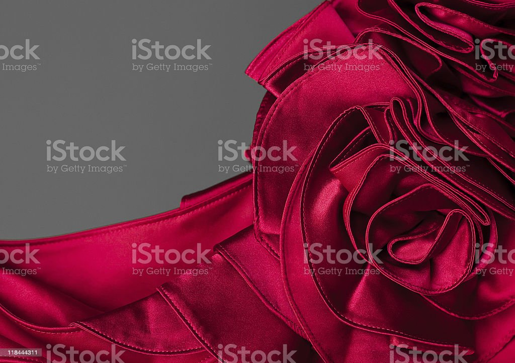 Red corsage evening  dress stock photo