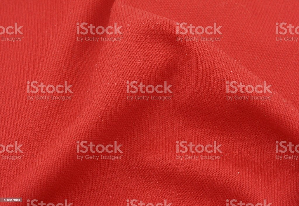red cotton fabric with crease royalty-free stock photo