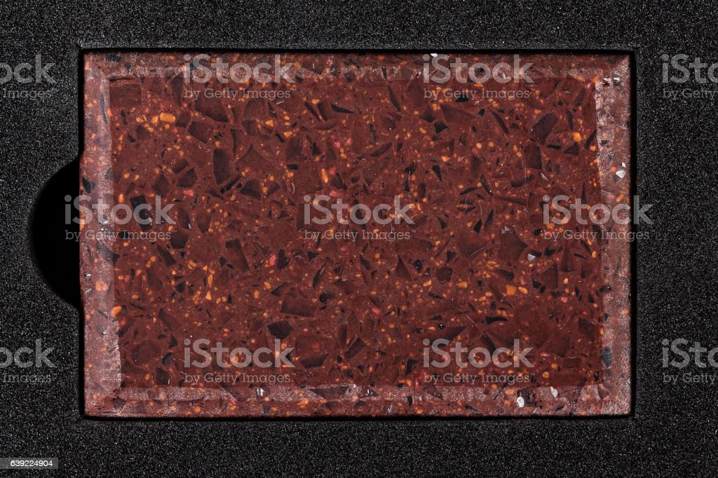 Red counter top sample stock photo