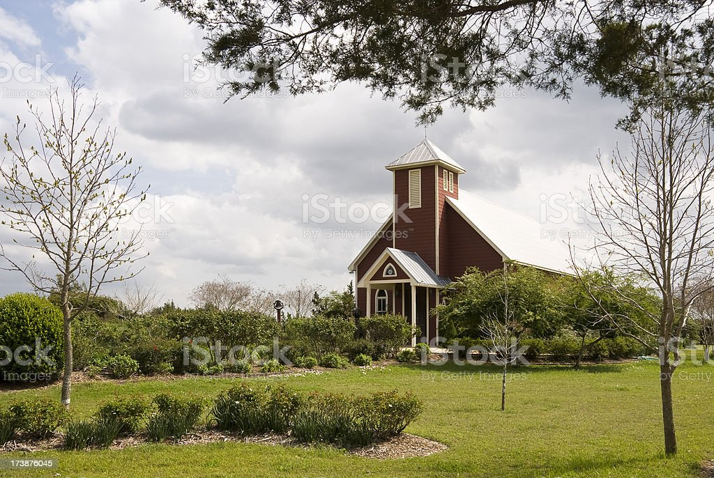Red Country Church stock photo