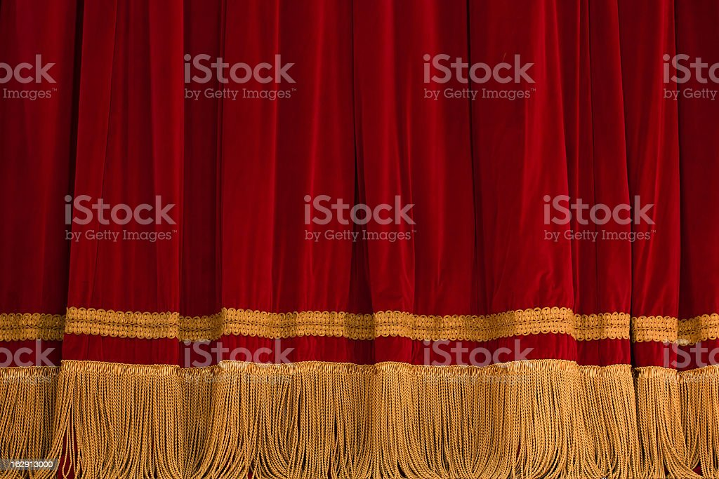 Red courtain theater stock photo