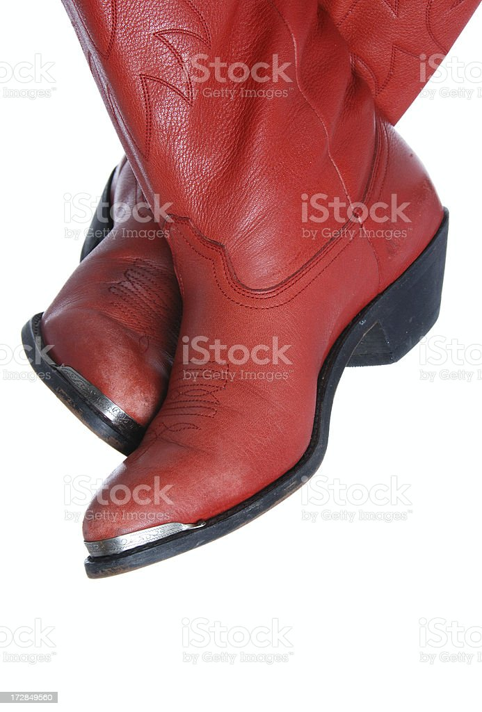 Red Cowboy Boots royalty-free stock photo