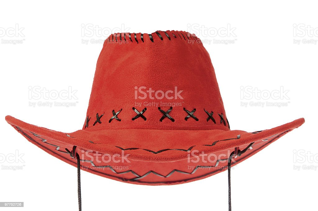 Red cowboy hat royalty-free stock photo