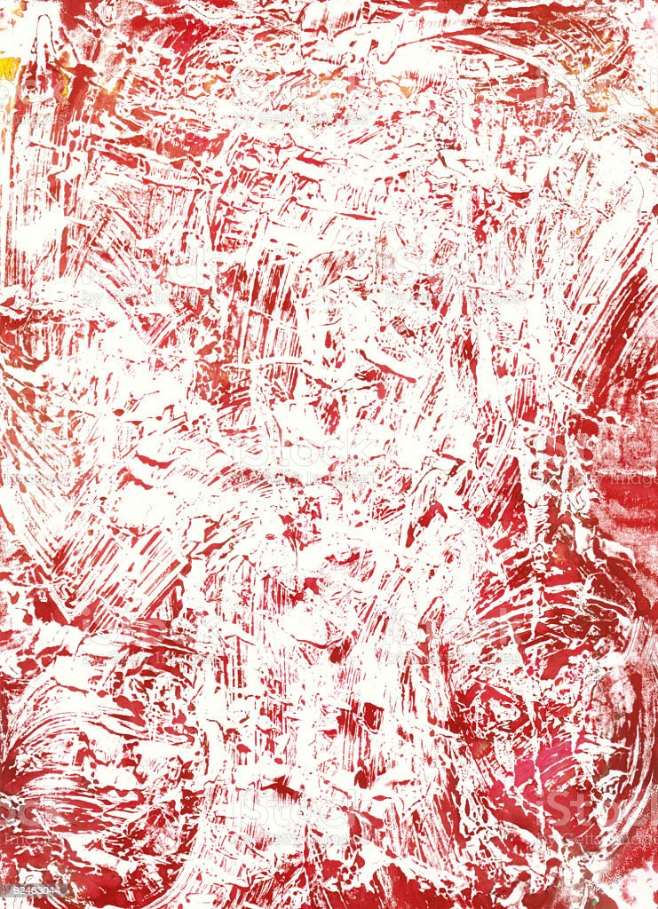 Red Crackle Monoprint background texture royalty-free stock photo