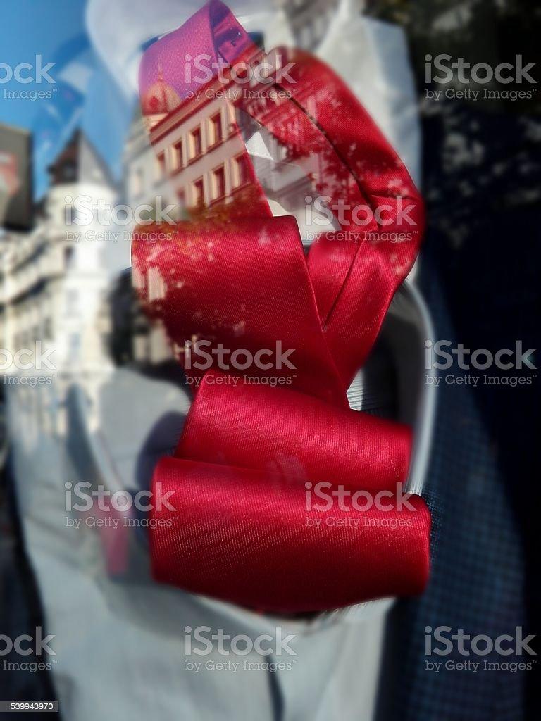 Red Cravate stock photo