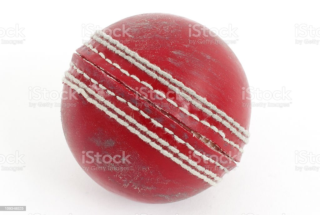 Red Cricket Ball royalty-free stock photo