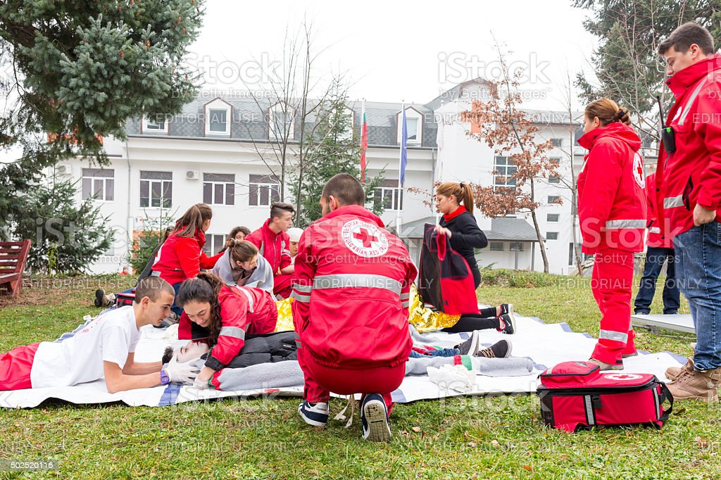 Red Cross Youth stock photo