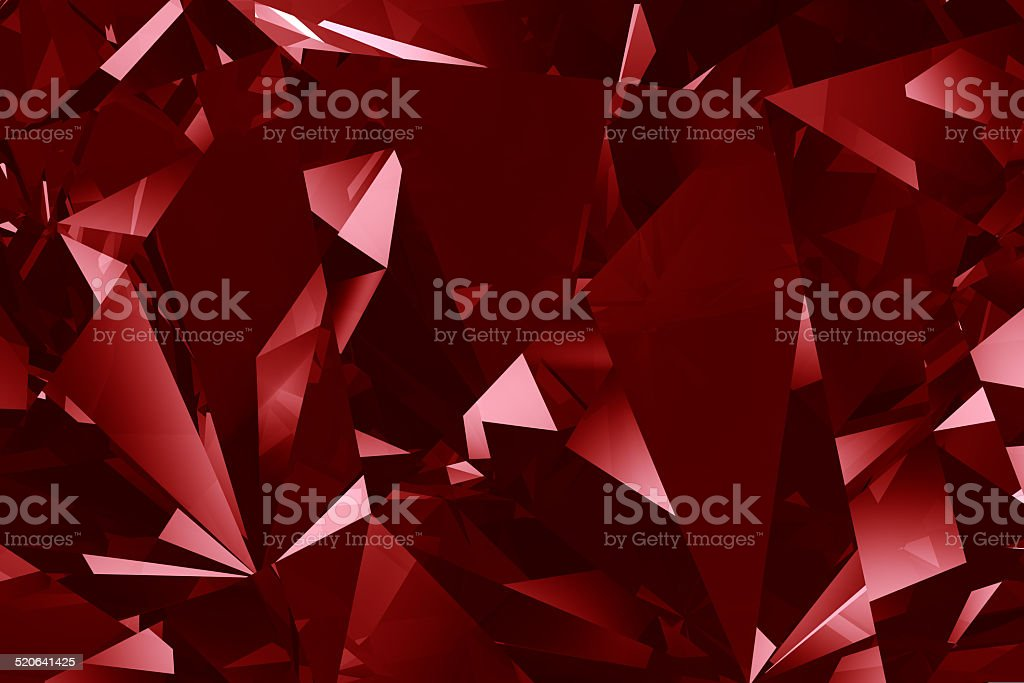 Red crystal facet background stock photo