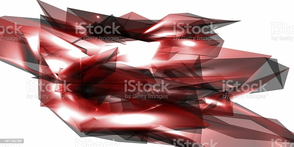 Red Crystals Abstracts royalty-free stock photo