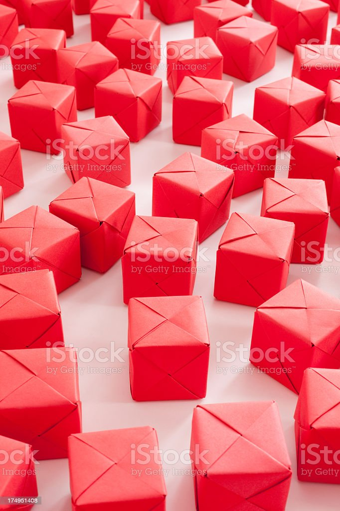 Red cubes royalty-free stock photo