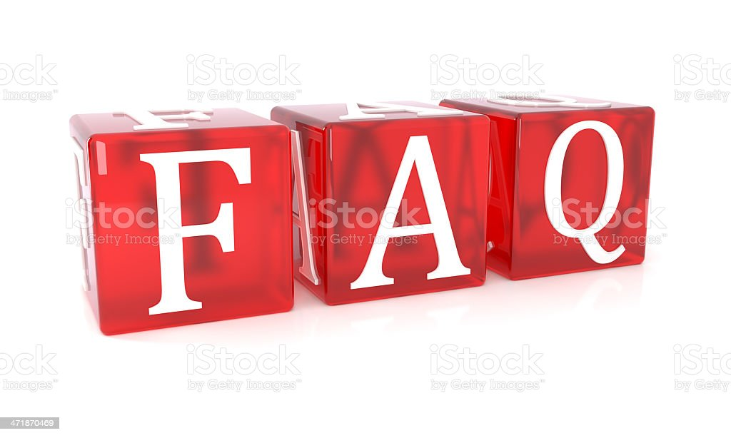 FAQ red cubes royalty-free stock photo