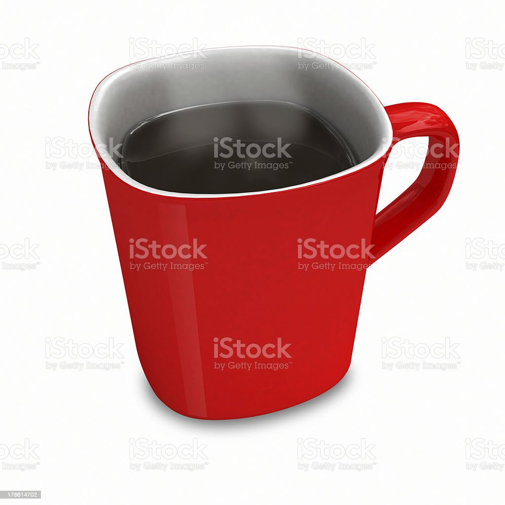 Red cup from coffee royalty-free stock photo
