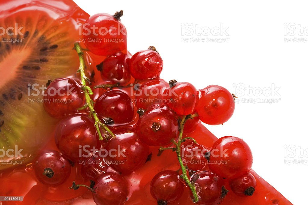 Red currant and kiwi royalty-free stock photo