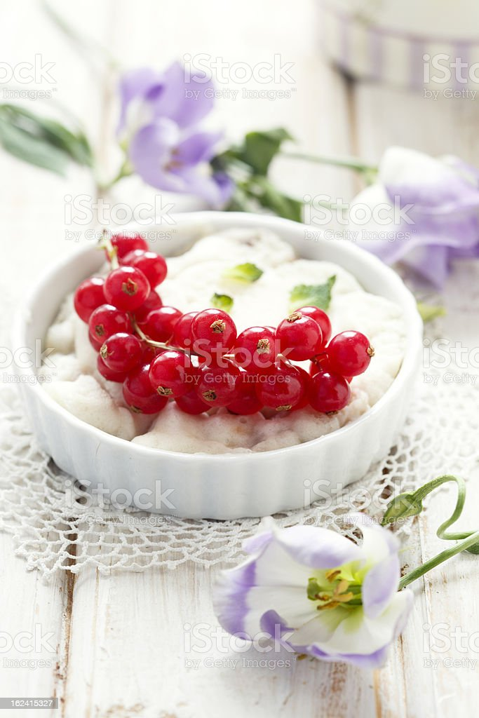 Red currant dessert royalty-free stock photo